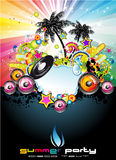 tropisk händelsereklambladmusik royaltyfri illustrationer