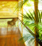 tropisk härlig portch royaltyfri foto