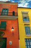 Tropisk Havana facade royaltyfri foto