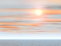 tropisk havssolnedgång Arkivfoton