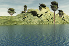 tropisk hideaway Arkivfoton