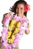 tropisk kvinna för blommalei Royaltyfri Fotografi