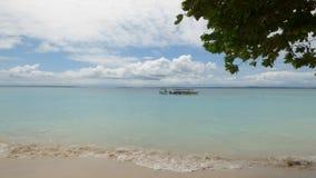 Tropisk lös strand, Panama Arkivfoto