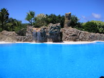 tropisk lagun Arkivfoto
