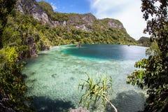 Tropisk lagun i Raja Ampat royaltyfria foton