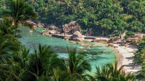 Tropisk laguna strand lager videofilmer