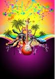 tropisk musik för diskohändelsereklamblad Arkivbild