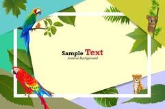 Tropisk och djur ö av härliga växter Arkivfoton