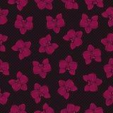 Tropisk orkidémodellillustration Royaltyfria Bilder