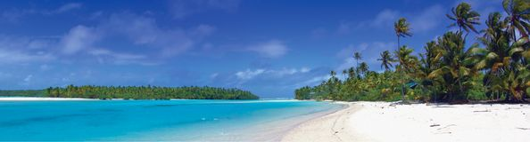 tropisk panorama royaltyfria foton