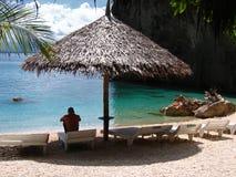 tropisk paradissemesterort Arkivbild