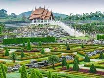 tropisk park för illustrationliggande för design hög upplösning för täppa för plan Arkivbild