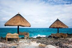 tropisk privat semesterort för paradis Royaltyfri Foto