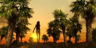 tropisk promenad 01 Royaltyfri Fotografi