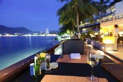 tropisk restaurang arkivfoto