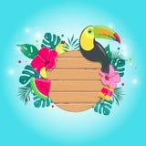 Tropisk sammansättning för sommar i vektor Arkivbild