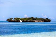 Tropisk seascape, Zanzibar ö, Tanzania Arkivbild
