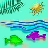 tropisk semester för konst Royaltyfria Bilder