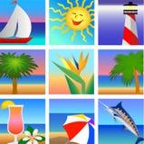 tropisk semester för strandeps royaltyfri illustrationer
