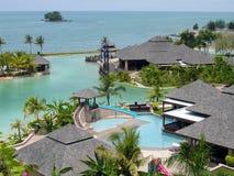 tropisk semesterort Arkivfoto