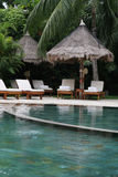 tropisk semesterort arkivbild