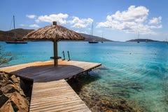 Tropisk semesterort i British Virgin Islands Arkivbild
