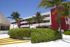 Tropisk semesterort i Cancun, Mexico Arkivfoton