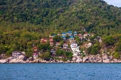 Tropisk semesterort på den Ko Tao ön Arkivbilder
