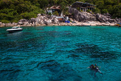 Tropisk semesterort på Ko Tao Fotografering för Bildbyråer