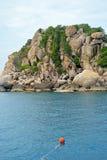 Tropisk semesterort på Ko Tao, Thailand Arkivbild