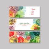 Tropisk sidakortdesign Arkivfoton