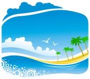 tropisk sikt för kustlinje Arkivfoto