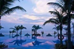 tropisk sjösida Arkivbild