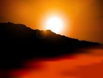tropisk solnedgång Royaltyfri Fotografi