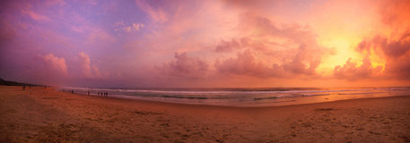Tropisk solnedgång Royaltyfri Foto
