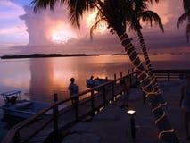 tropisk solnedgång Royaltyfria Bilder