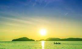 Tropisk solnedgång Arkivfoton
