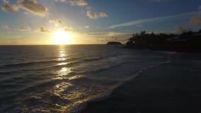 Tropisk solnedgång arkivfilmer