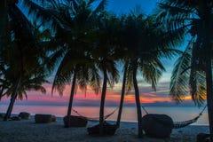 Tropisk solnedgång Arkivbilder
