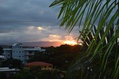 Tropisk solnedgång Arkivfoto