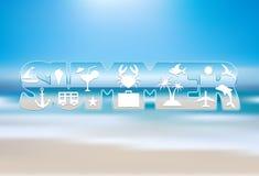 tropisk sommar för bakgrundsferieaffisch vektor illustrationer