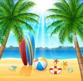 tropisk sommar för bakgrundsferieaffisch Fotografering för Bildbyråer