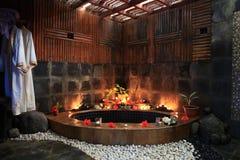 Tropisk-stil badrum Royaltyfri Foto