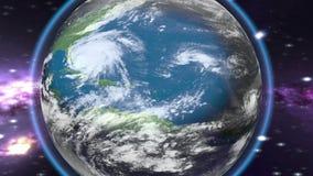 Tropisk stormöverskrift in mot stock video