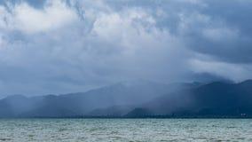 Tropisk storm i Thailand Arkivfoto