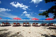 tropisk strandö Arkivfoton