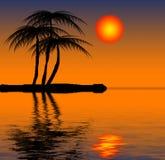 tropisk strand royaltyfri illustrationer