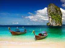 Tropisk strand, Andaman hav, Thailand Arkivbilder
