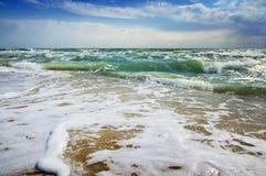 Tropisk strand för havsseascape Sommarparadisstrand Royaltyfri Fotografi