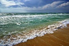 Tropisk strand för havsseascape Sommarparadisstrand Arkivbilder